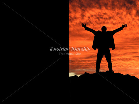 Praise image, Mountaintop, Christian PowerPoint Background