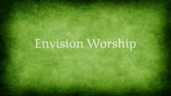 Liturgical green worship PowerPoint slide
