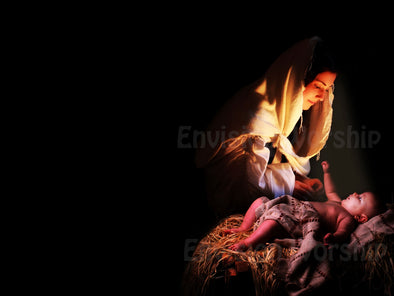Nativity church slide with gorgeous Mary and Baby Jesus - stunning