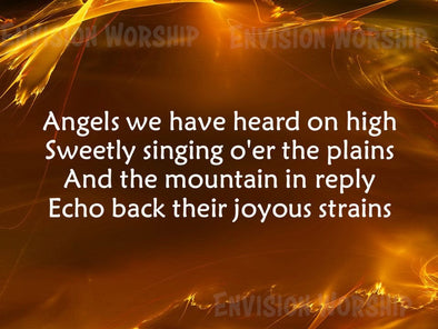 Angels We Have Heard On High Worship Slide