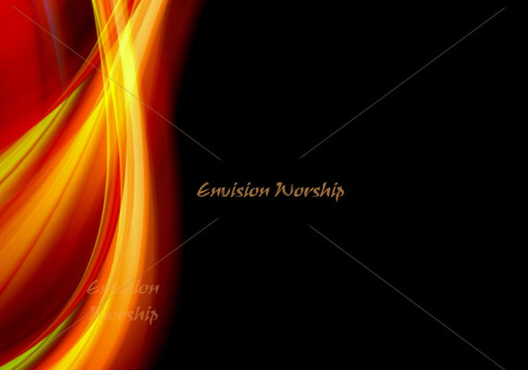 Pentecost PowerPoint slide with an amazing and gorgeous flame creates a church service that transforms the worship experience.