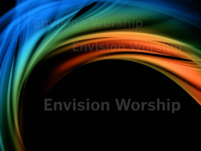 Rainbow church PowerPoint slide