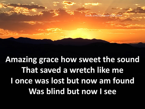 Amazing Grace Church PowerPoint is complete with the lyrics and stunning sunbeams instantly communicates hope and a new day