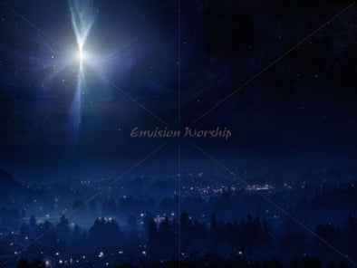 Star of Bethlehem church slide, Christmas Eve church background, Epiphany church PowerPoint