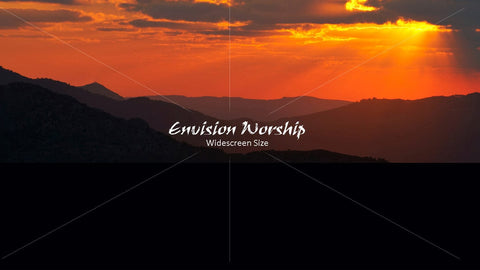 sunset image, worship image