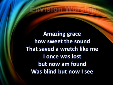 Amazing Grace church PowerPoint with lyrics included
