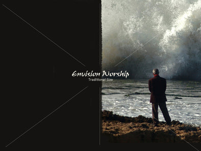 Overwhelmed, Tidal Wave, Tsunami, Christian PowerPoint Slide Background