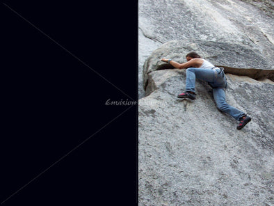 Rock climbing worship slide