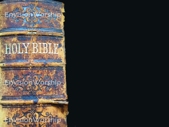 Bible church slide with old Bible - cool