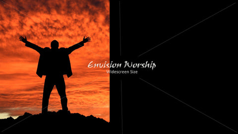 Mountaintop image, Praise image, Church PowerPoint Slide, Background