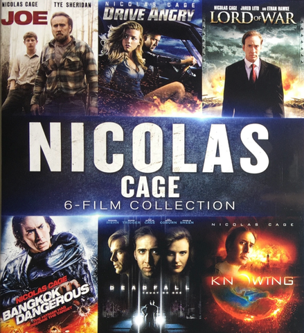 Nicolas Cage 6 Film Collection