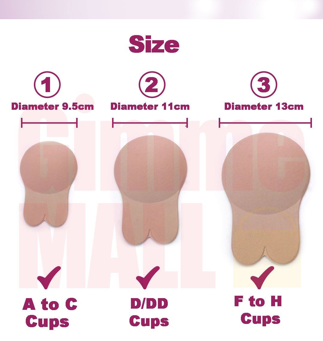 Lift Up Invisible Bra Tape - 2 Pairs