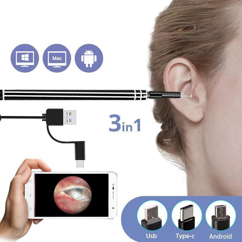 2019 Professional In-Ear Cleaning Endoscope - PC and Android Devices