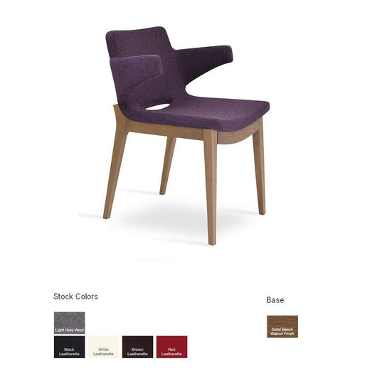 Sohoconcept Nevada Arm Wood Dining Chair