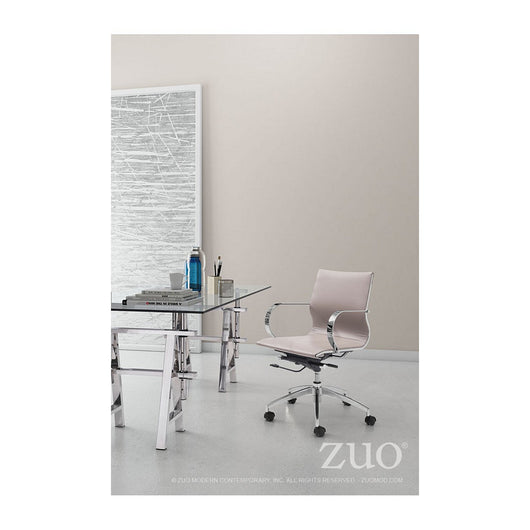Zuo Glider Low Back Office Chair