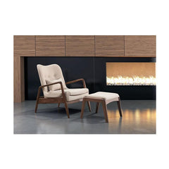 Zuo Bully Lounge Chair and Ottoman