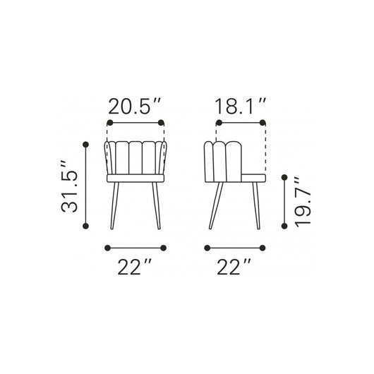 Adele Chair - set of 2