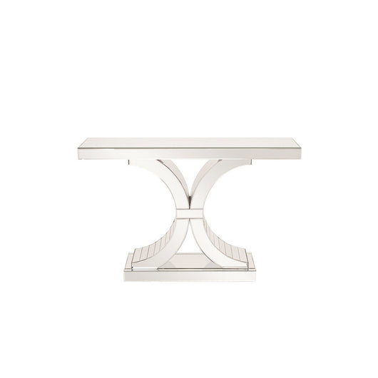 Howard Elliott Mirrored Console Table with Arch Accents