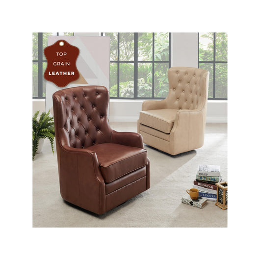 Anthony  Leather Swivel Chair