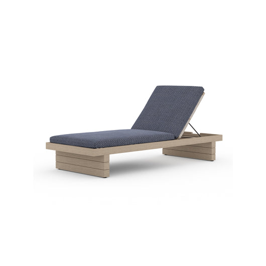 Solano Leroy Outdoor Chaise - Washed Brown