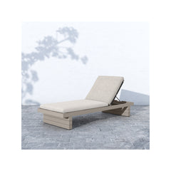 Solano Leroy Outdoor Chaise - Weathered Grey