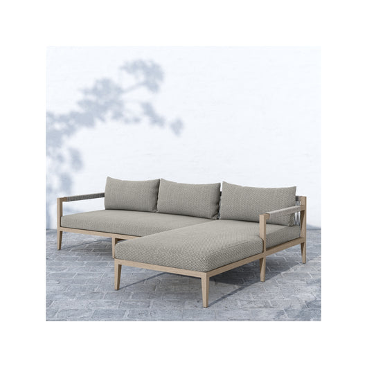 Solano Sherwood Outdoor 2 Piece Sectional  - Weathered Grey