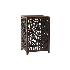 Howard Elliott Espresso Brown Wood Side Table
