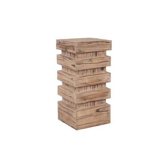 Howard Elliott Stepped Natural Wood Pedestal - Medium