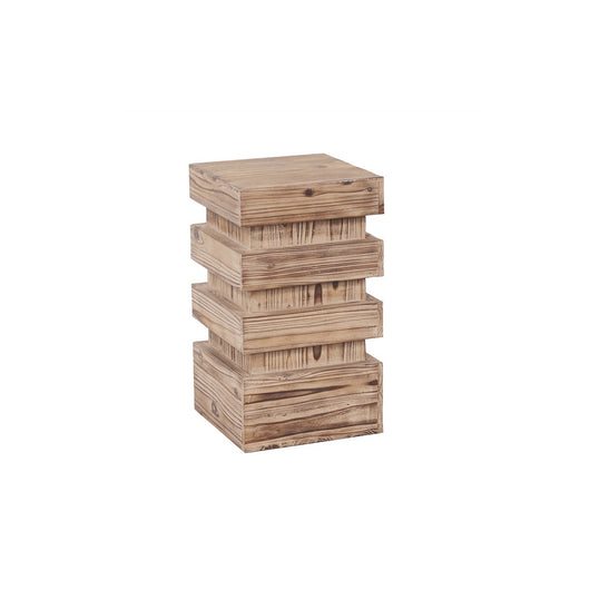 Howard Elliott Stepped Natural Wood Pedestal - Small