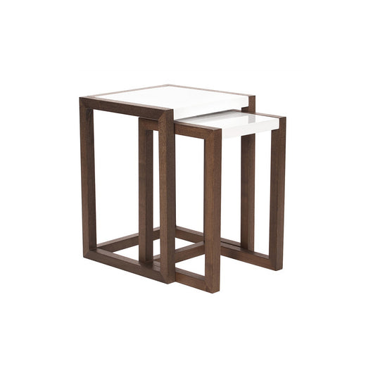 Howard Elliott Java Brown Wood Nesting Tables (set of 2)