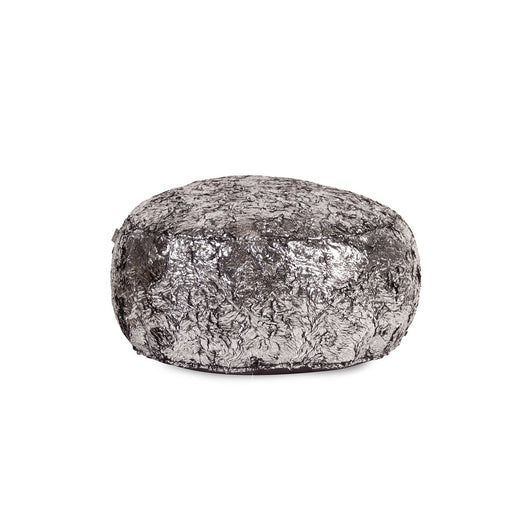 Howard Elliott Foot Pouf Ottoman - Silver Fox