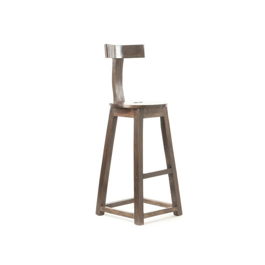 Rustic Wooden Counter Stool - set of 2