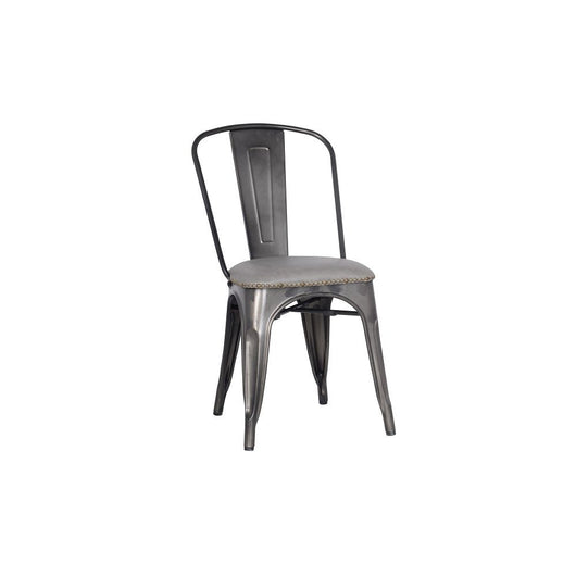 Metropolis KD PU Metal Side Chair - set of 4