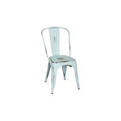 Metropolis Distressed Metal Side Chair - Set of 4