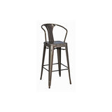 Metropolis Metal Counter Stool - Set of 4