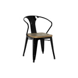 Metropolis Metal Arm Chair - Set of 4