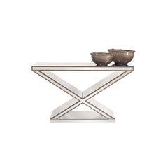 "Howard Elliott ""X"" Frame Mirrored Console Table"