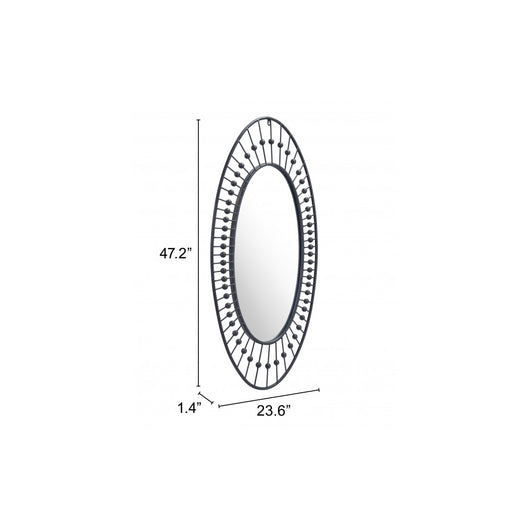 Cusp Oval Mirror