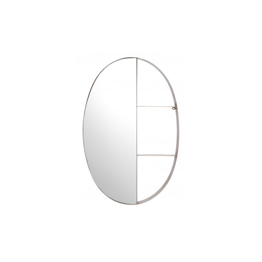Latitude Oval Shelf Mirror