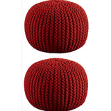 Aron Living Pouf Round Ottoman - set of 2