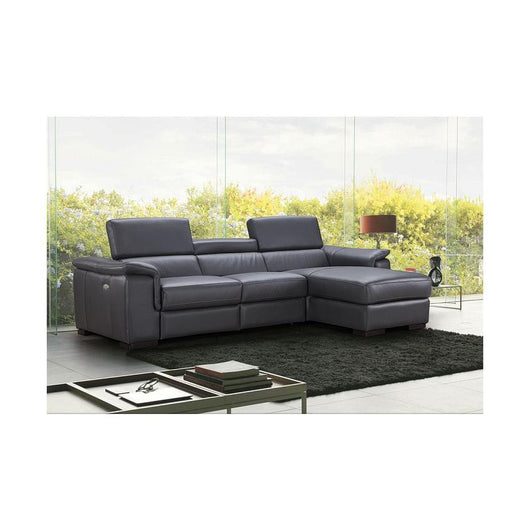 J&M Furniture Allegra Premium Leather Sectional