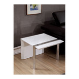 B Modern Director End  Table