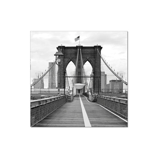 J&M Premium Acrylic Wall Art - Brooklyn Bridge Flag