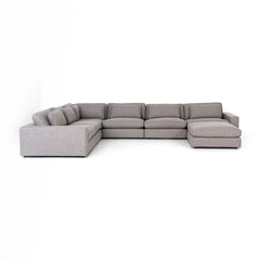Kensington  Bloor 6 Piece Sectional with Ottoman