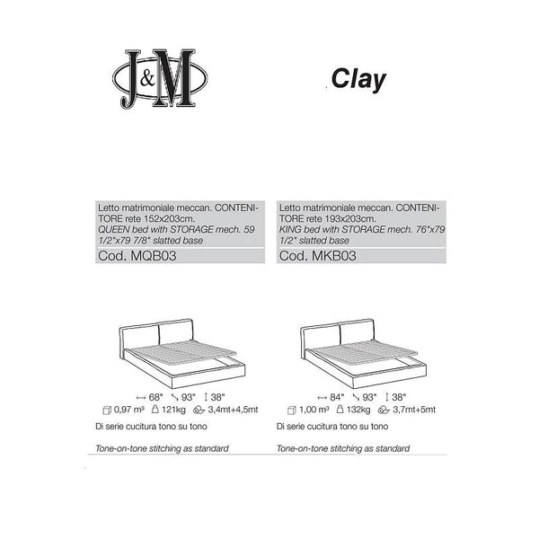 J&M Furniture Clay Storage Bed