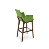 Sohoconcept Eiffel Wood Counter Stool - With Arms
