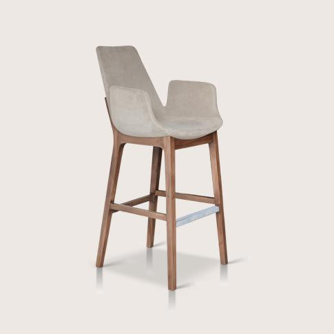 Sohoconcept Eiffel Wood Counter Stool With Arms 2bmod