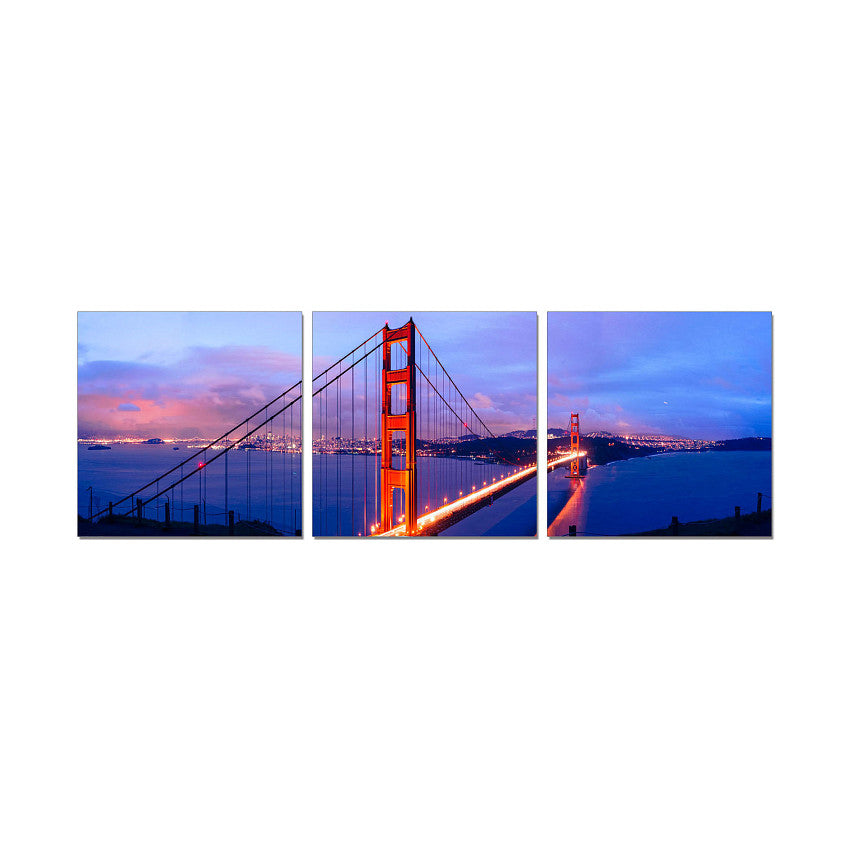 Jm premium acrylic wall art golden gate bridge 2bmod for Kitchen cabinets lowes with golden gate wall art