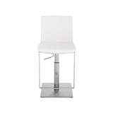 Nuevo Lewis Stool - Brushed Stainless Steel