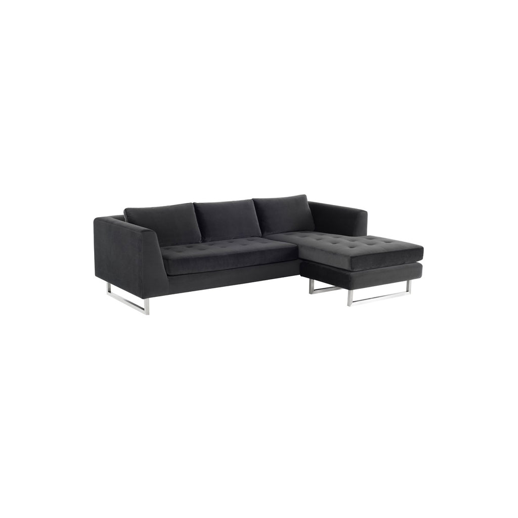 Outstanding Nuevo Matthew Sectional Sofa Stainless Steel Ibusinesslaw Wood Chair Design Ideas Ibusinesslaworg